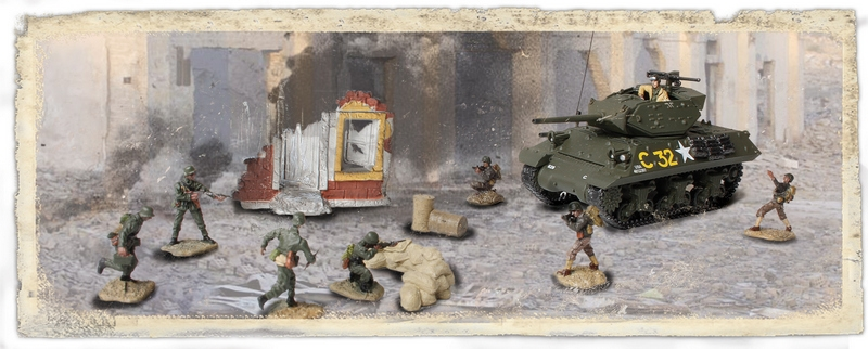 M10 Wolverine US Army, France 1944, w/8 Figures