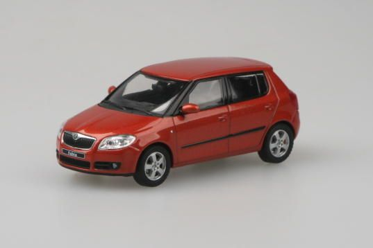 Škoda Fabia II, 2006 (Tangerine Orange Metallic)