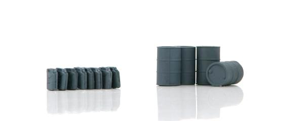 German Fuel Drums and Jerry Cans (grey)