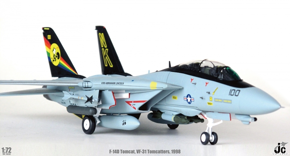 F-14D Tomcat, US Navy VF-31 Tomcatters, CVW14 USS Abraham Lincoln (CVN-72), 1998