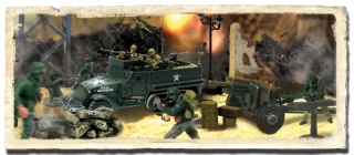 M3A1 Half Track /w Howitzer, US Army and Soldiers set